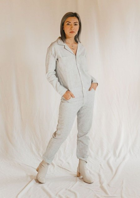 Olympia Etal Jax Jumpsuit - Hemp Stripe