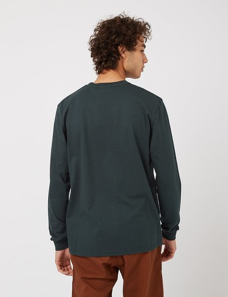 Gramicci One Point Long Sleeve T Shirt - Deep Forest