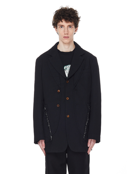 Comme des Garcons Homme plus Elongated Jacket - Black
