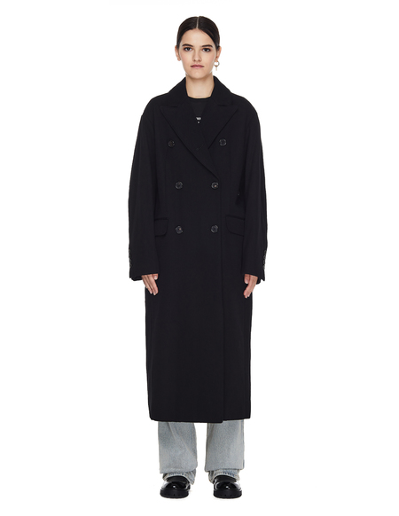 Ann Demeulemeester Double Breasted Elongated Coat - Black