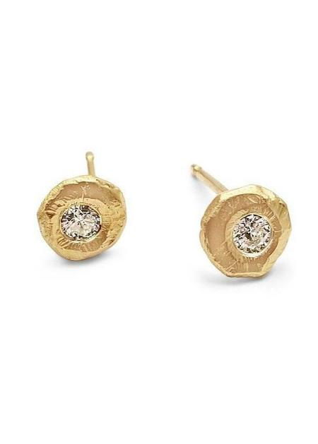 PAGE SARGISSON 18K Diamond Stud Earrings - 18 karat yellow gold