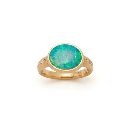 Tony Malmed Jewelry Crystal Opal Atelier Ring - 18k gold