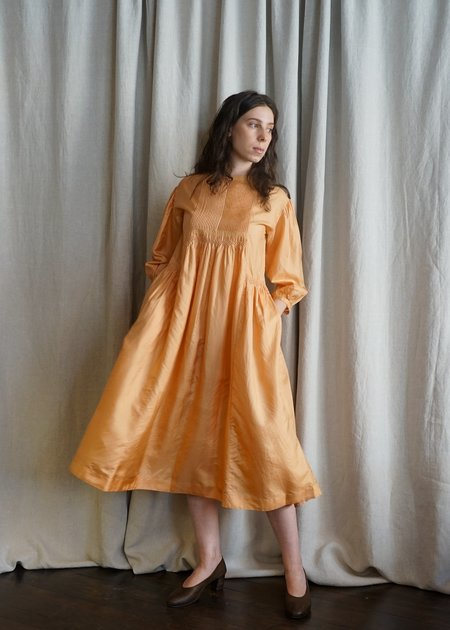 Eka Hazel Silk Dress - Orange