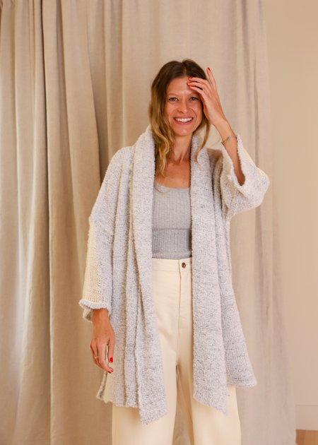 Lorena Laing Kimono Sleeve Spinal Mesh Knit Coat