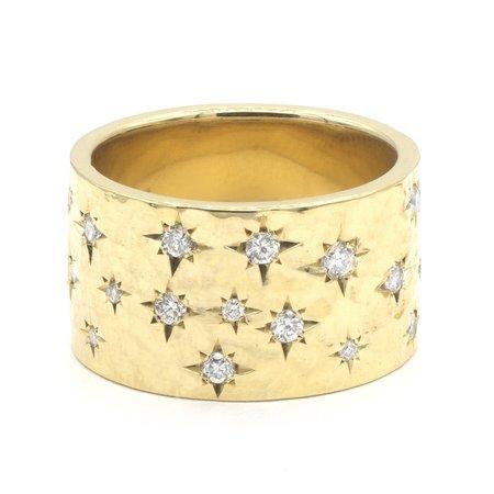 Octavia Elizabeth Fine Jewelry WIDE ÉTOILE RING - 18K yellow gold