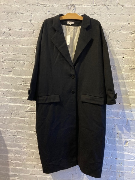 Samuji Wool Trench Coat - Black