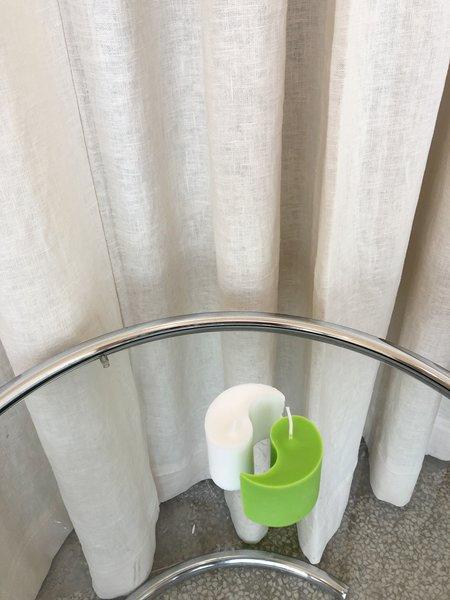 Ri-Ri-Ku YIN YANG CANDLE - WHITE/GREEN