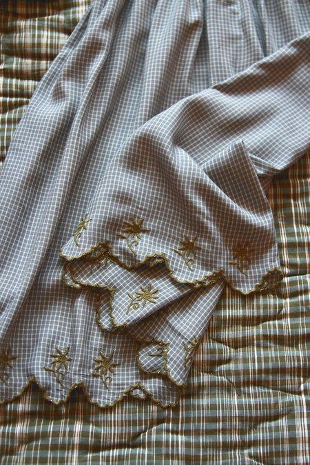 KIDS Bonjour Balloon Sleeve Dress - Blue Vichy