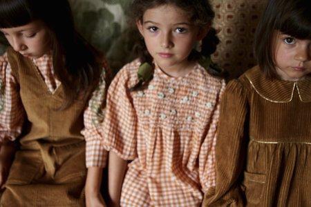 Kids Bien Bien Bonjour Tunique Corduroy Blouse - Caramel