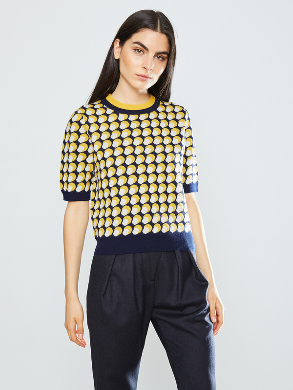 WHiT Penny Dot Print Sweater