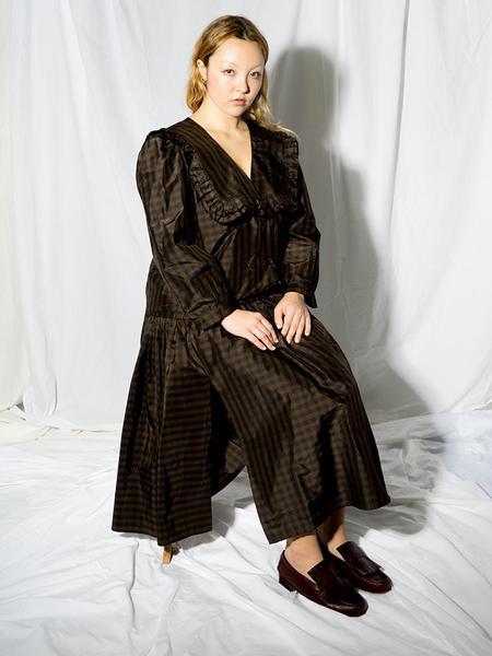 Chelsea Mak Garden Skirt - Brown/Black Gingham