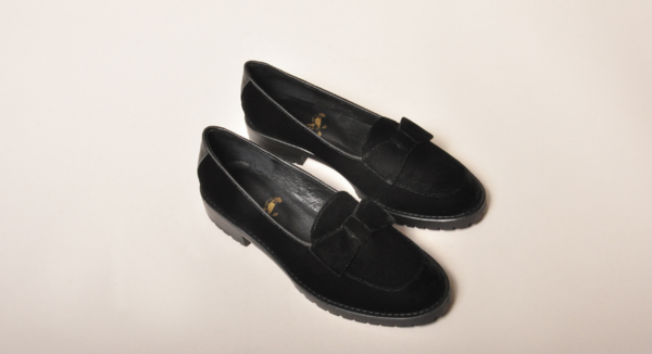 F-Troupe Velvet Bow Loafer