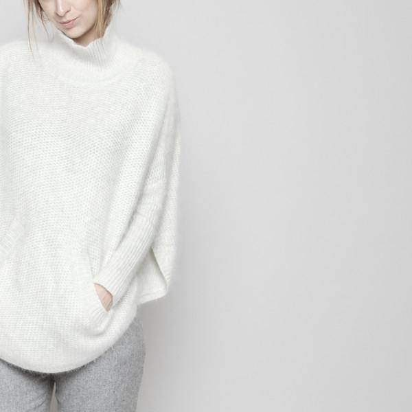 7115 by Szeki Angora Poncho - Off-White FW16