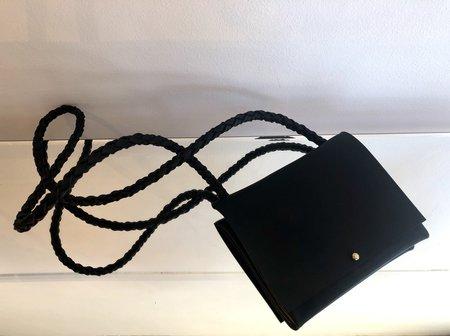 ARA Handbags BEBE FOLDOVER  W/BLACK STRAP BAG - BLACK OIL
