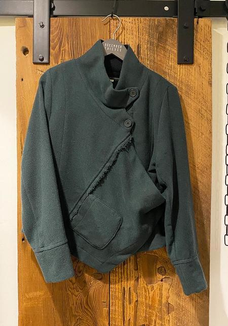 Lurdes Bergada Asymmetric Fleece Lined Wool Jacket