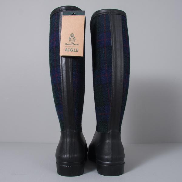 Men's Aigle x Harris Tweed Boot in Marine