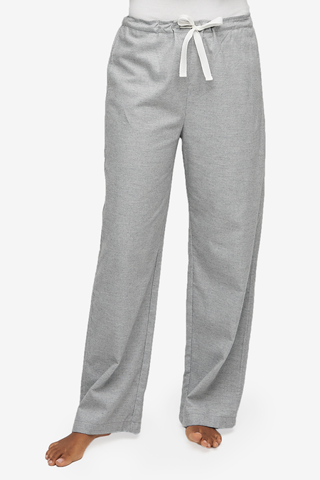 The Sleep Shirt Lounge Pant Twill Cashmere Blend - Grey