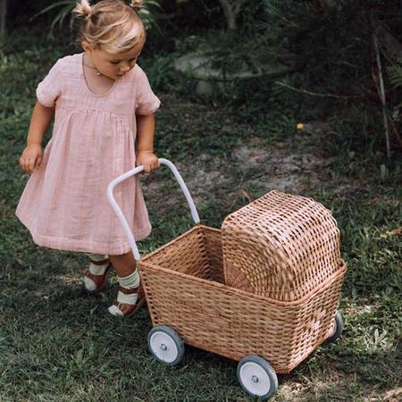 kids Olli Ella Strolley Stroller With Mattress - Mustard Yellow