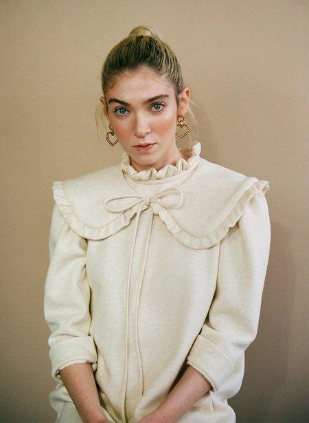 Eliza Faulkner Ruffled Collar - Oatmeal