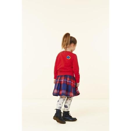 KIDS oilily sunday skirt - treasured check blue