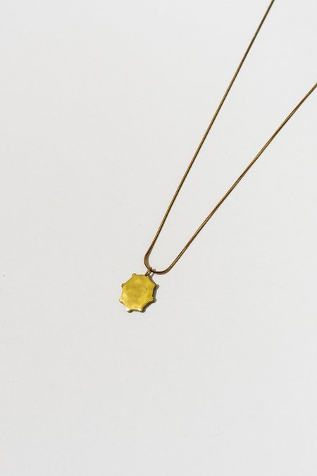 The Salt Empire Ray Pendant Necklace - Brass