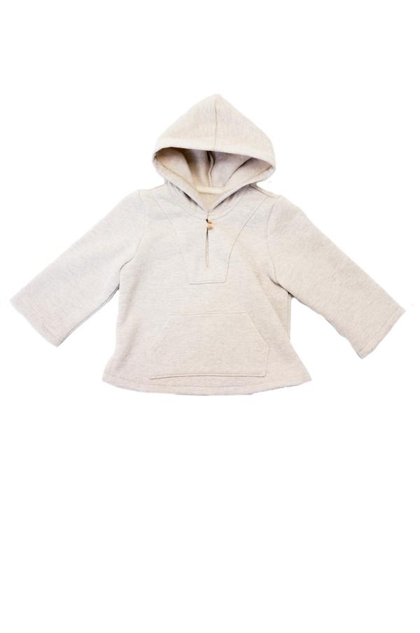 Kid's Boy+Girl Fleece Baja Poncho - Oatmeal