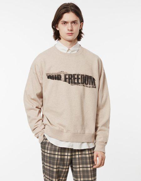 Schnayderman's freedom print Sweatshirt - camel