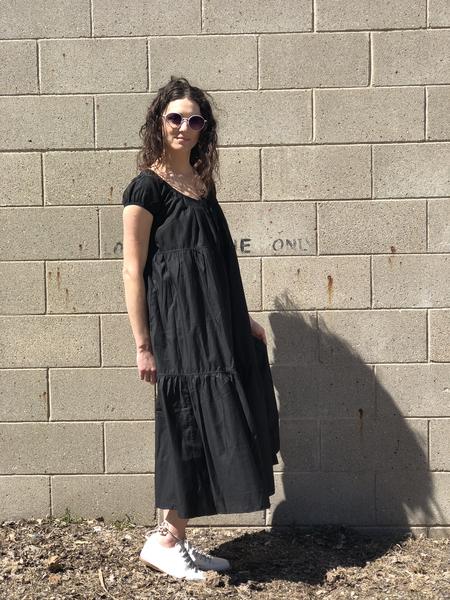 vivien ramsay Peasant dress - black