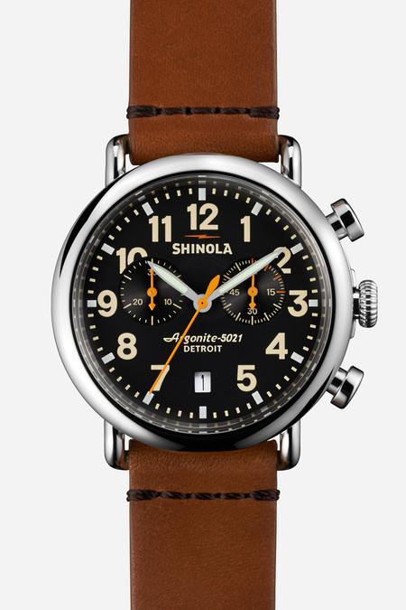 Shinola The Runwell Chrono 41mm in black & tan