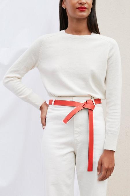 Phi 1.618 Slim Reversible Belt - Orange / Navy