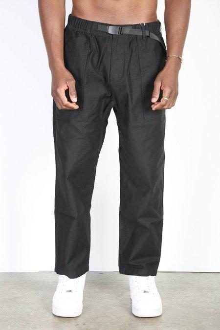 Gramicci Back Satin Loose Taper Pants - Black