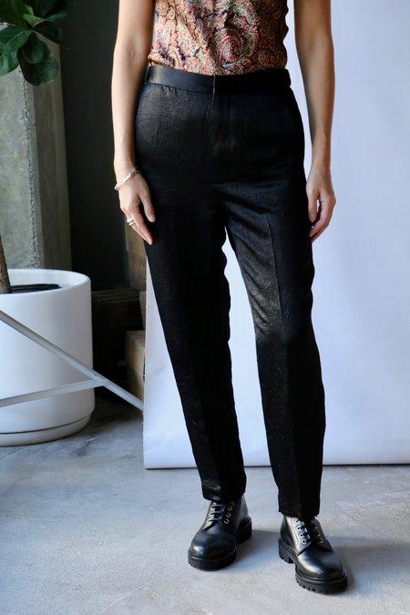 Rachel Comey Bergan Pant - Crinkled Black Satin