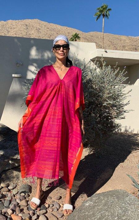 Two caftan dress - Fuschia/orange
