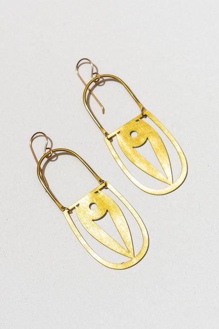 The Salt Empire Rera Earrings - Brass