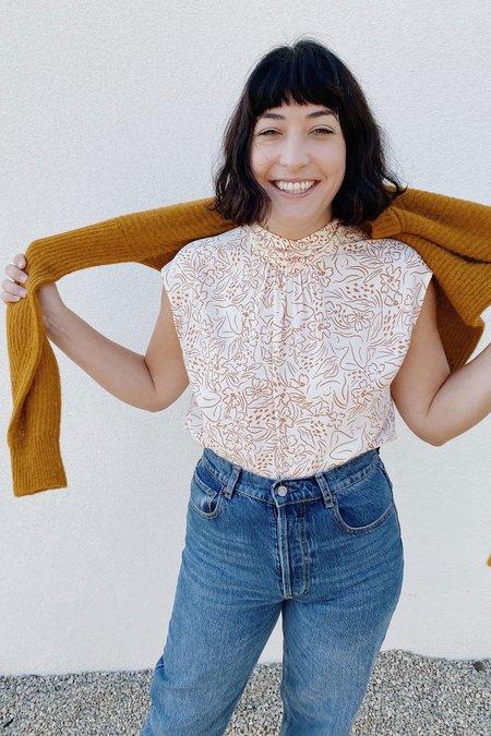 Whimsy + Row Julia Top - Cream Lady Print