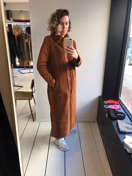 Fassbender Lambswool Coat - Brown