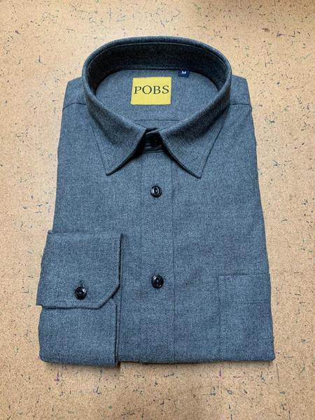 Product Of Bob Scales Shop Shirt - Grey Flannel