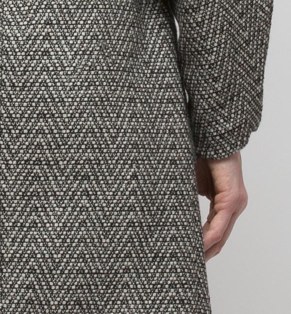 H. Fredriksson Iris Long Coat Fishbone Tweed