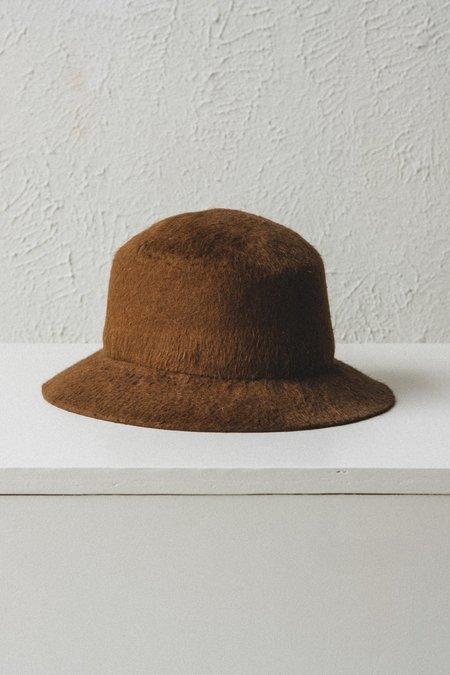 Brookes Boswell Shag Felt Bucket Hat
