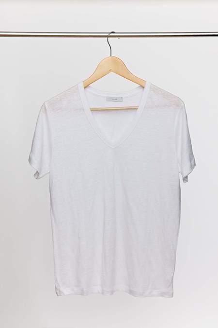 Laing Home Essential Linen V-Neck T-Shirt - White