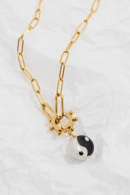 NOTTE Yin to My Yang Necklace/Earring - Gold plated
