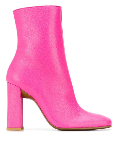By FAR Square Toe Boots - Pink