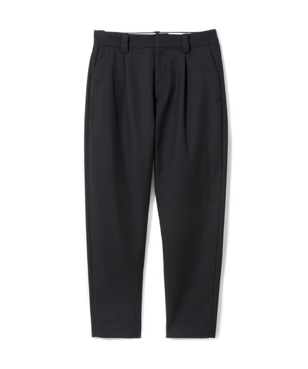 Sandinista MFG Easy Fit Tapered Wool Tuck Pants - Black
