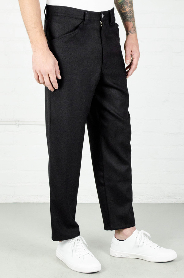 Men's Odin Slouchy Wool Crepe Trouser