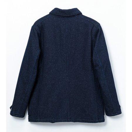 Momotaro Jeans Cotton Wool Silk Jacket - Indigo