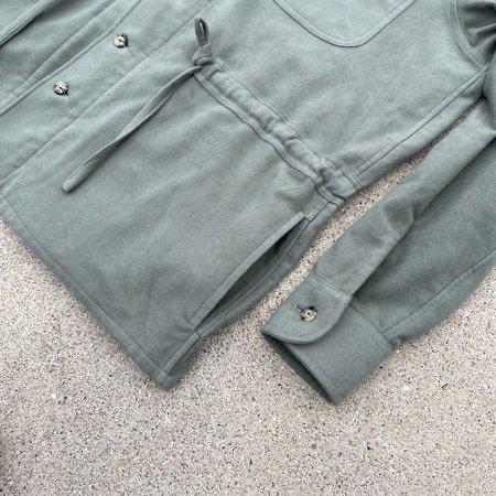 Tony Shirtmakers Safari Shacket - Sage Moleskin