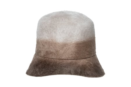 Clyde Batta  Long Hair Angora Hat - Sand Ombre