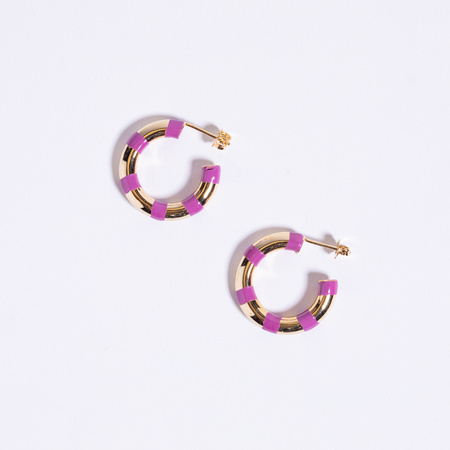 A. Carnevale Striped Hoops - Purple