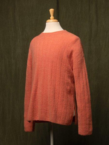 Pure Cashmere NYC Cashmere Boucle Sweater - Orange Ice