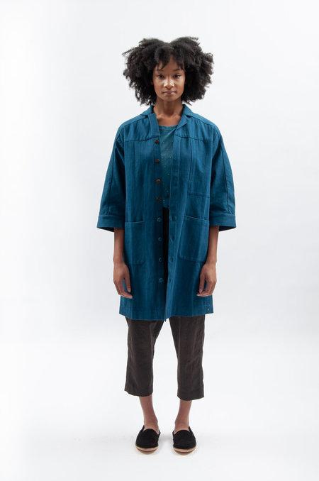11.11. eleven eleven Wool Scoat Coat - Indigo